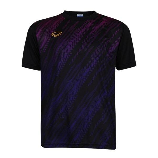 เสื้อกีฬาฟุตบอลพิมพ์ลาย แกรนด์สปอร์ต รหัส : 011559 (สีดำ)
