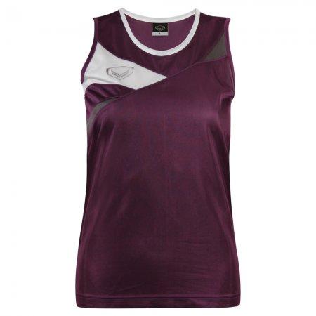 เสื้อวิ่งหญิงตัดต่อด้านหน้า(สีม่วง) รหัส :017110