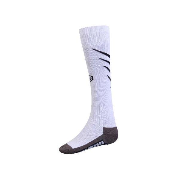 ถุงเท้ากีฬาฟุตบอลทอลาย  รหัส :025135 (สีขาว)