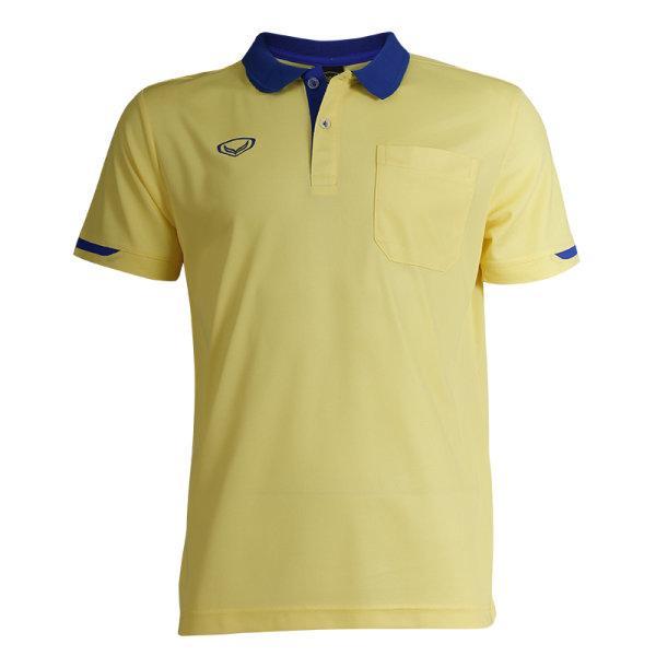 เสื้อโปโลชายสีม่วงแกรนด์สปอร์ต รหัส :012553 (สีเหลือง)