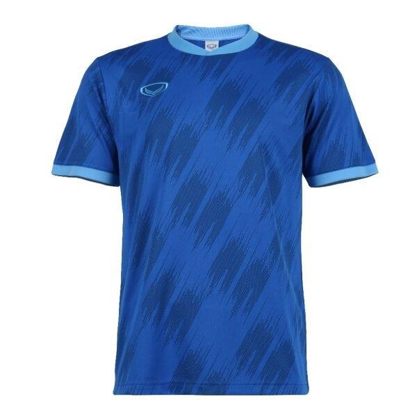 เสื้อกีฬาฟุตบอลทอลาย แกรนด์สปอร์ต รหัส : 011548 (สีน้ำเงิน)