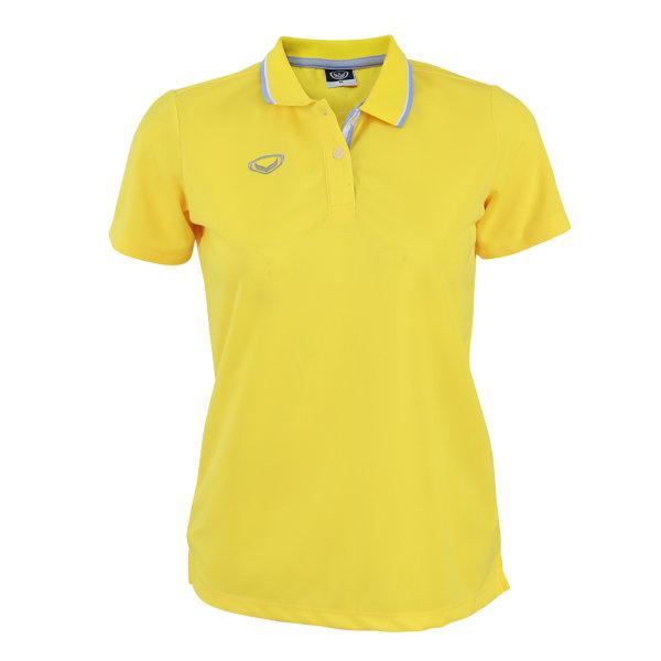 เสื้อโปโลหญิงสีเหลืองแกรนด์สปอร์ต รหัส :012769