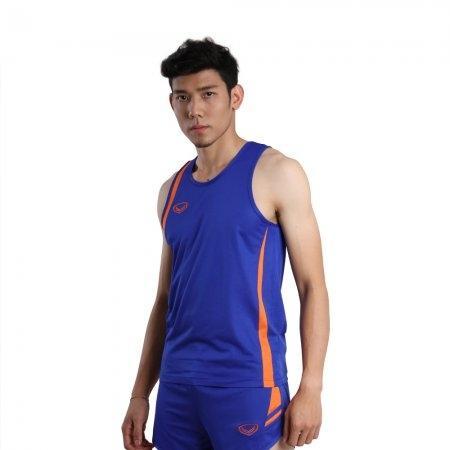 เสื้อวิ่งชายตัดต่อ (สีน้ำเงิน) รหัส :017129