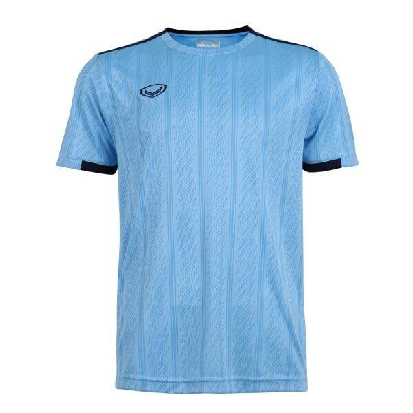 เสื้อกีฬาฟุตบอลทอลาย แกรนด์สปอร์ต รหัส : 011556 (สีฟ้า)