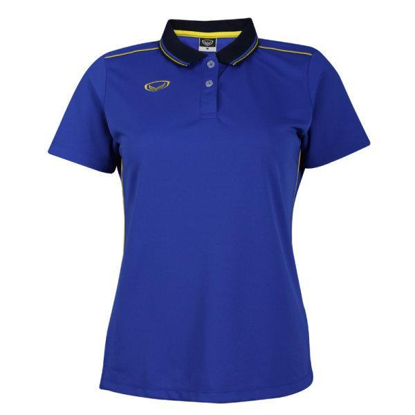เสื้อโปโลหญิงสีน้ำเงินแกรนด์สปอร์ต รหัส :012754