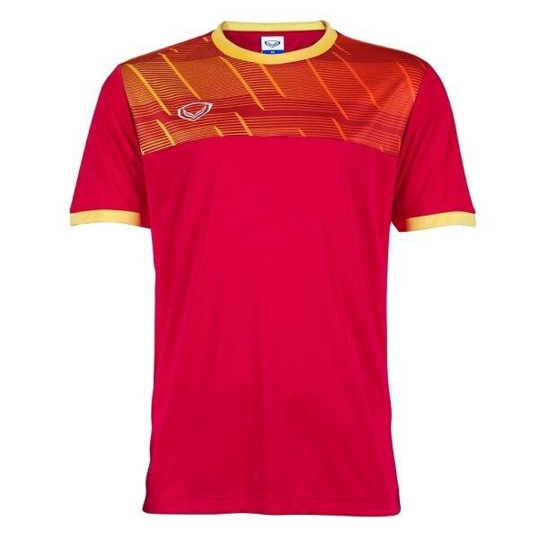 แกรนด์สปอร์ตเสื้อกีฬาฟุตบอลพิมพ์ลาย รหัส : 011553 (สีแดง)