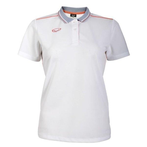 เสื้อโปโลหญิงสีขาวแกรนด์สปอร์ต รหัส :012754