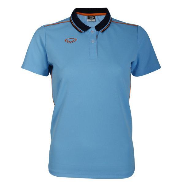เสื้อโปโลหญิงสีฟ้าแกรนด์สปอร์ต รหัส :012754