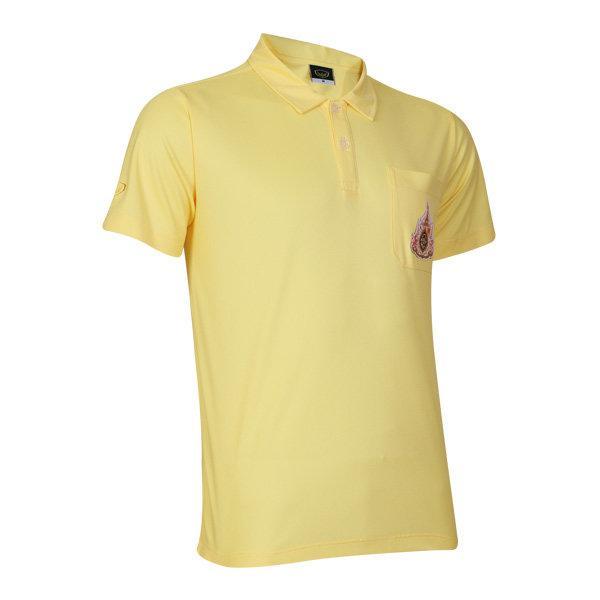 เสื้อโปโลสีเหลืองประดับตราสัญลักษณ์ฯ แกรนด์สปอร์ต รหัส:012238