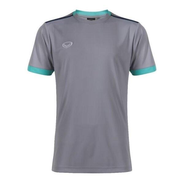 เสื้อกีฬาฟุตบอลตัดต่อ แกรนด์สปอร์ต  รหัสสินค้า : 011541 (สีเทา)