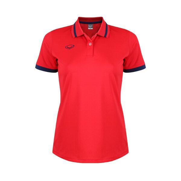 เสื้อโปโลหญิงแกรนด์สปอร์ต รหัสสินค้า : 012785 (สีแดง)
