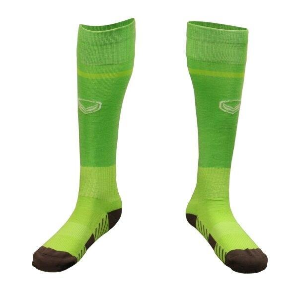 ถุงเท้ากีฬาฟุตบอลทอลาย แกรนด์สปอร์ต รหัส :025141 (สีเขียว)