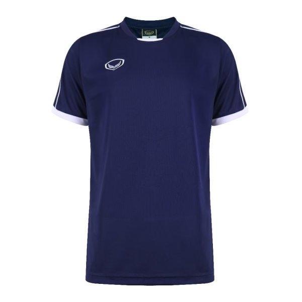 เสื้อกีฬาฟุตบอลตัดต่อ แกรนด์สปอร์ต รหัส : 011542 (สีกรม)