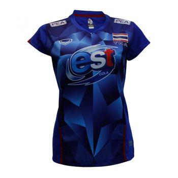 แกรนด์สปอร์ต เสื้อวอลเลย์บอลทีมชาติ (สีน้ำเงิน)รหัส:014181