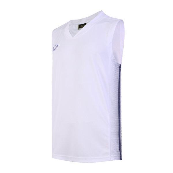 เสื้อบาสเกตบอลชายตัดต่อพิมพ์ลายแกรนด์สปอร์ต รหัสสินค้า :013160 (สีขาว)