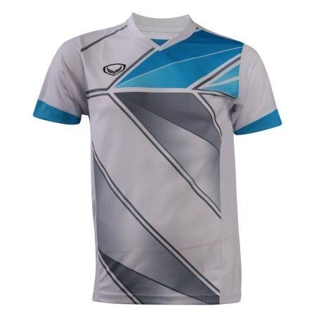 เสื้อกีฬาพิมพ์ลายชาย แกรนด์สปอร์ต (สีขาว) รหัส : 014220