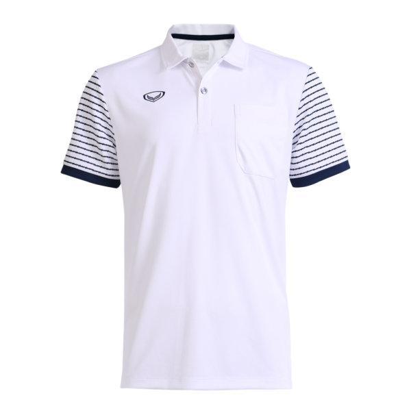 เสื้อโปโลชายแกรนด์สปอร์ต รหัสสินค้า : 012578 (สีขาว)
