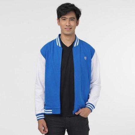 เสื้อแจ็คเก็ตแกรนด์สปอร์ต (สีน้ำเงินขาว) รหัส : 023170
