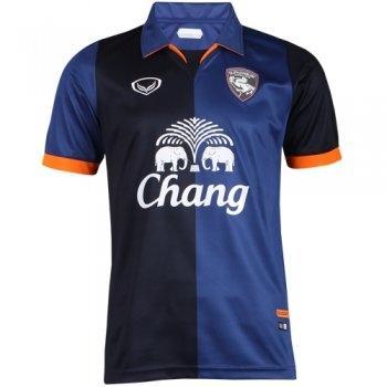 เสื้อกีฬาฟุตบอล สโมสรสุพรรณ2014(สีกรม) รหัส:038836
