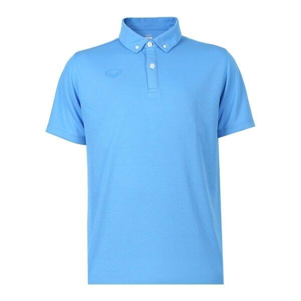 เสื้อโปโลชายสีล้วนทอลาย รหัส : 012253 (สีฟ้า)