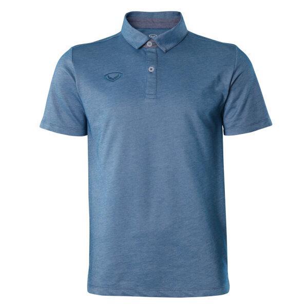 เสื้อโปโลคอปกฐานเชิ๊ตแกรนด์สปอร์ต รหัส : 012248 (สีฟ้าเข้ม)