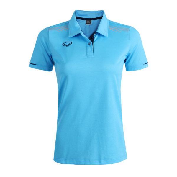 เสื้อโปโลหญิงแกรนด์สปอร์ต รหัสสินค้า : 012781 (สีฟ้า)