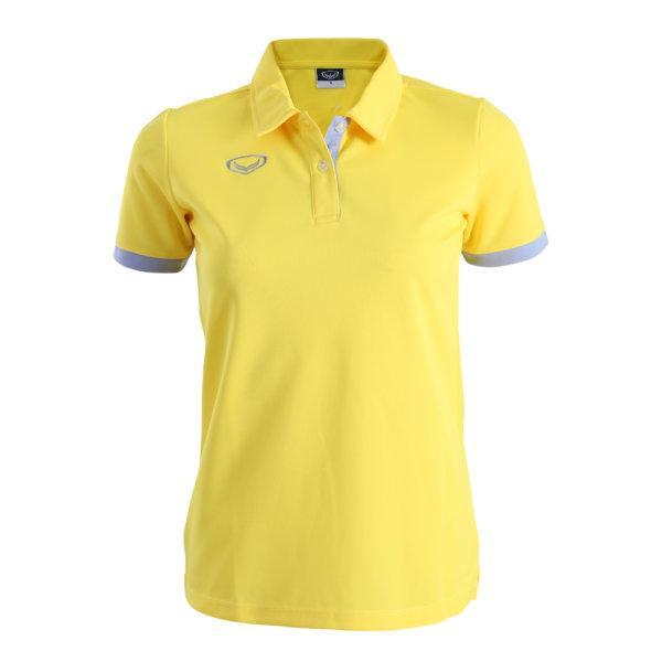เสื้อโปโลหญิงสีเหลืองแกรนด์สปอร์ต รหัส:012770