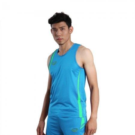 เสื้อวิ่งชายตัดต่อ (สีฟ้า) รหัส :017129