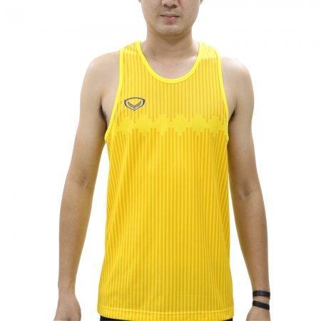 เสื้อวิ่งชายแขนกุดพิมพ์ลาย รหัสสินค้า : 017133 (สีเหลือง)
