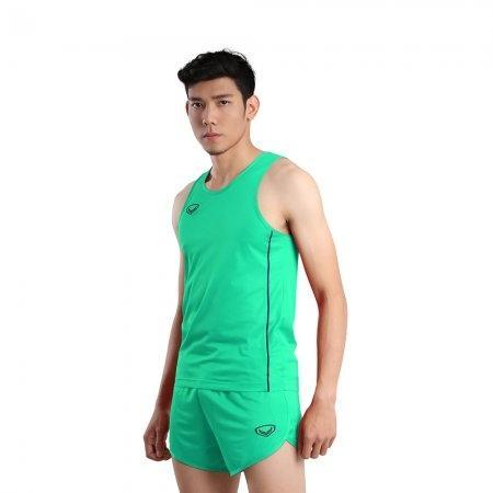 เสื้อวิ่งชายกุ้นด้านข้าง (Grand Sport RUNNING) รหัส: 017127 (สีเขียว)