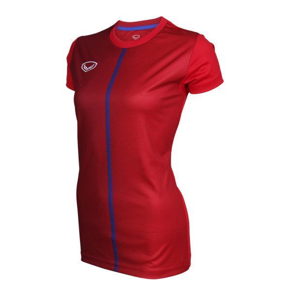 เสื้อกีฬา 2019 ตะกร้อหญิง รหัส :038727 (สีแดง)