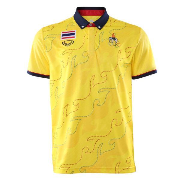 เสื้อโปโลทอลาย แกรนด์สปอร์ต (โอลิมปิก 2020) รหัส : 012255 (สีเหลือง)