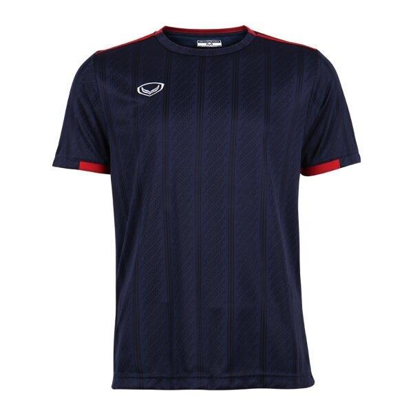 เสื้อกีฬาฟุตบอลทอลาย แกรนด์สปอร์ต รหัส : 011556 (สีกรม)