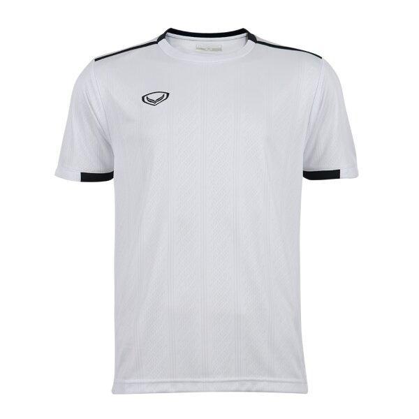 เสื้อกีฬาฟุตบอลทอลาย แกรนด์สปอร์ต รหัส : 011556 (สีขาว)