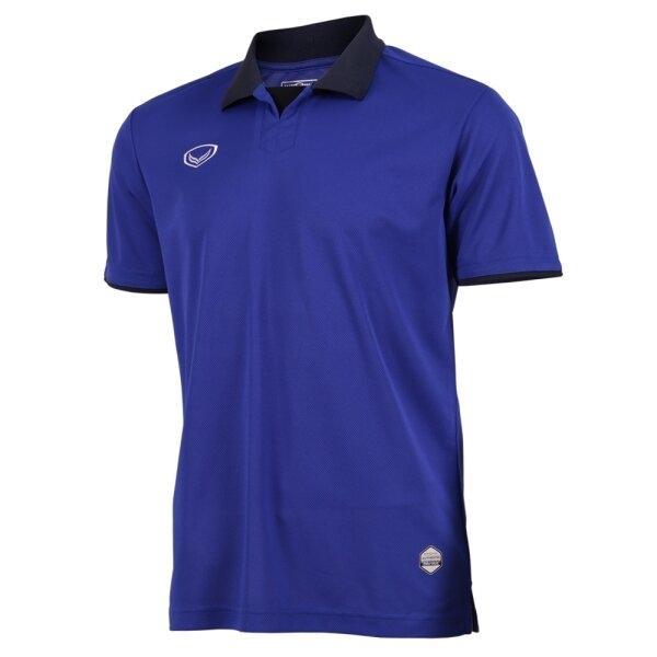 แกรนด์สปอร์ตเสื้อกีฬาฟุตบอลคอปก  รหัสสินค้า : 011552 (สีน้ำเงิน)