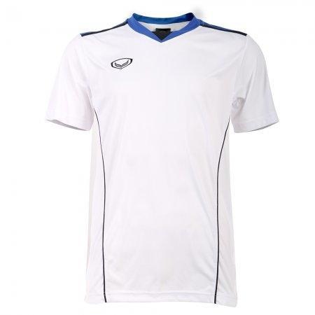 เสื้อกีฬาชายตัดต่อแกรนด์สปอร์ต(สีขาว) รหัส: 014218