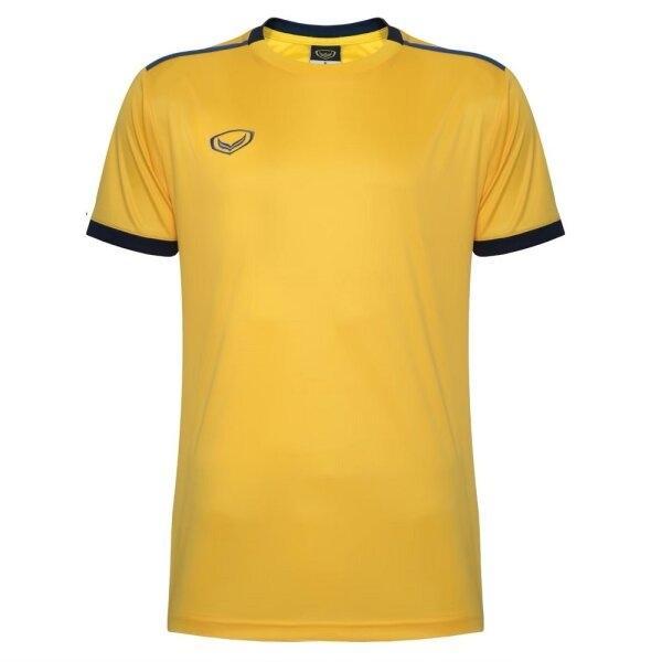 เสื้อกีฬาฟุตบอลตัดต่อ แกรนด์สปอร์ต  รหัสสินค้า : 011541 (สีเหลือง)