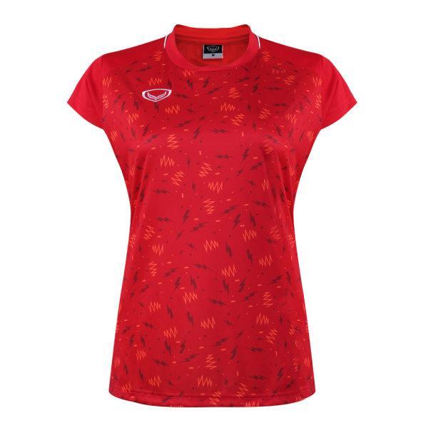 เสื้อกีฬาหญิงแกรนด์สปอร์ต(สีแดง)รหัส:014284