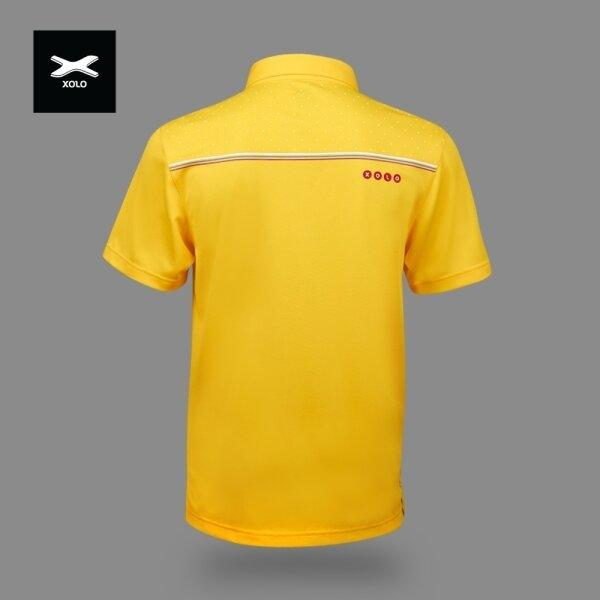 XOLO 3-COLOR STRIPES POLO SHIRT ( Anti-bacterial ) CODE : 040030 (ฺYellow)