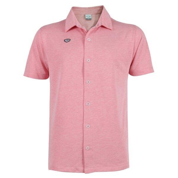เสื้อเชิ๊ตผ่าหน้าแกรนด์สปอร์ต รหัส : 012247(สีแดง)