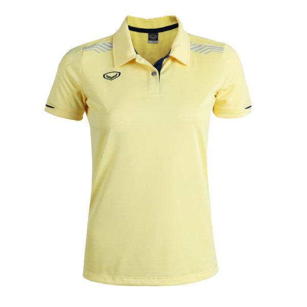 เสื้อโปโลหญิงแกรนด์สปอร์ต รหัสสินค้า : 012781 (สีเหลือง)
