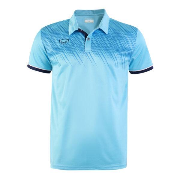 เสื้อโปโลแกรนด์สปอร์ต รหัส: 072046 (สีฟ้า)