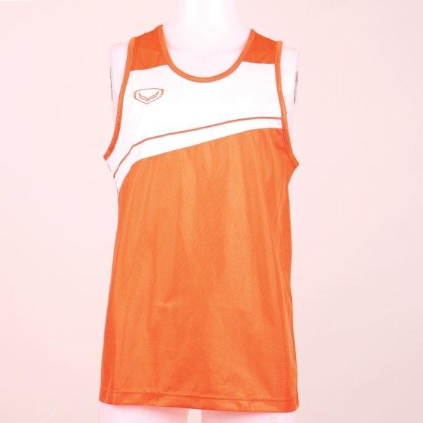 เสื้อกล้ามชายตัดต่อ รหัส : 017075 (สีส้ม)