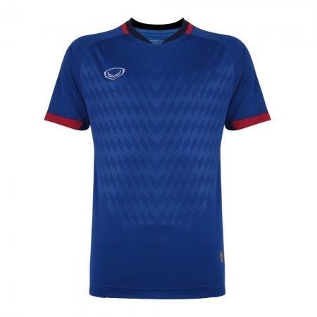 เสื้อฟุตบอล แกรนด์สปอร์ต(Emboss) สีน้ำเงิน รหัส:011446