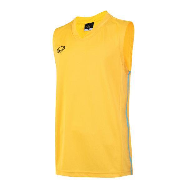 เสื้อบาสเกตบอลชายตัดต่อพิมพ์ลายแกรนด์สปอร์ต รหัสสินค้า :013160 (สีเหลือง)