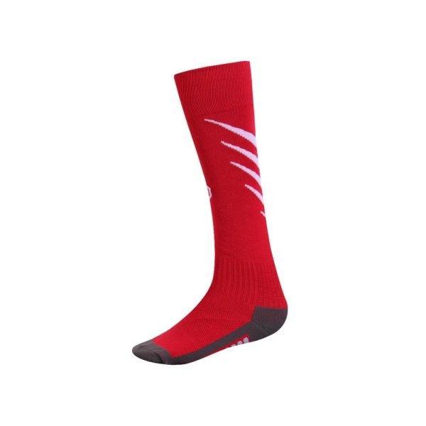 ถุงเท้ากีฬาฟุตบอลทอลาย  รหัส :025135 (สีแดง)