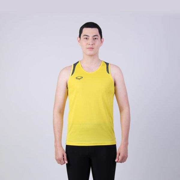 เสื้อกล้ามชายตัดต่อบ่า รหัสสินค้า : 017138 (สีเหลือง)
