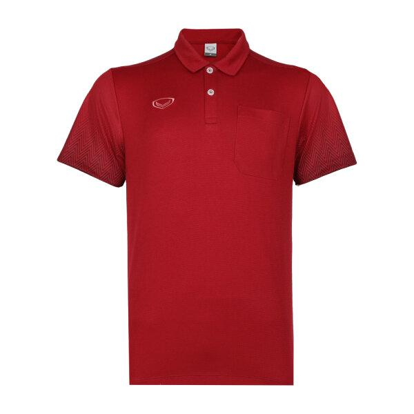 เสื้อโปโลชาย แกรนด์สปอร์ต รหัส : 012584 (สีแดง)
