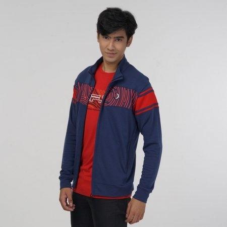 เสื้อแจ็คเก็ตพิมพ์ลาย (Filagen) สีกรม รหัส:023168