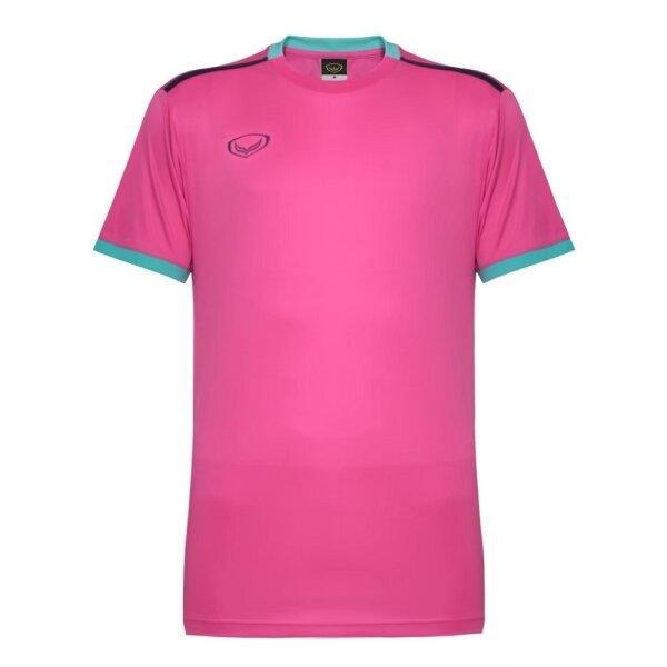 เสื้อกีฬาฟุตบอลตัดต่อ แกรนด์สปอร์ต  รหัสสินค้า : 011541 (สีชมพู)